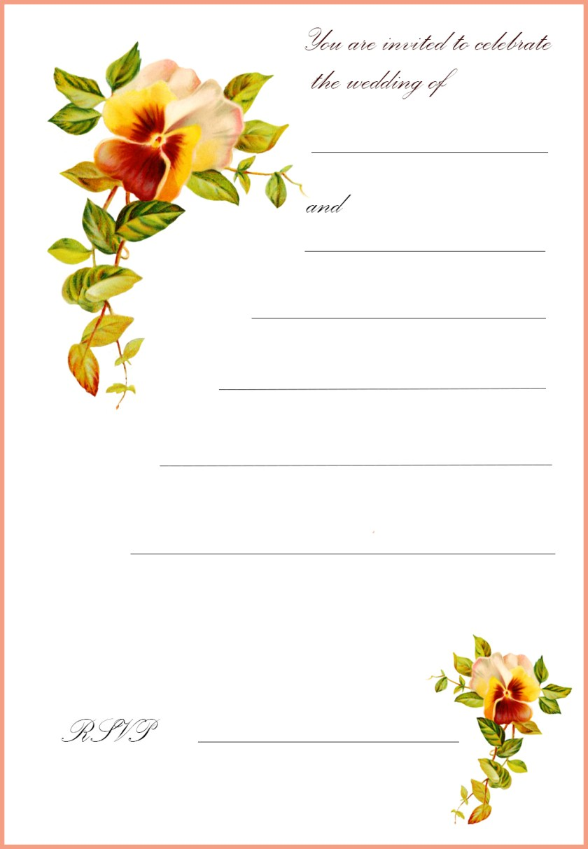 Free Printable Wedding Invitation Cards