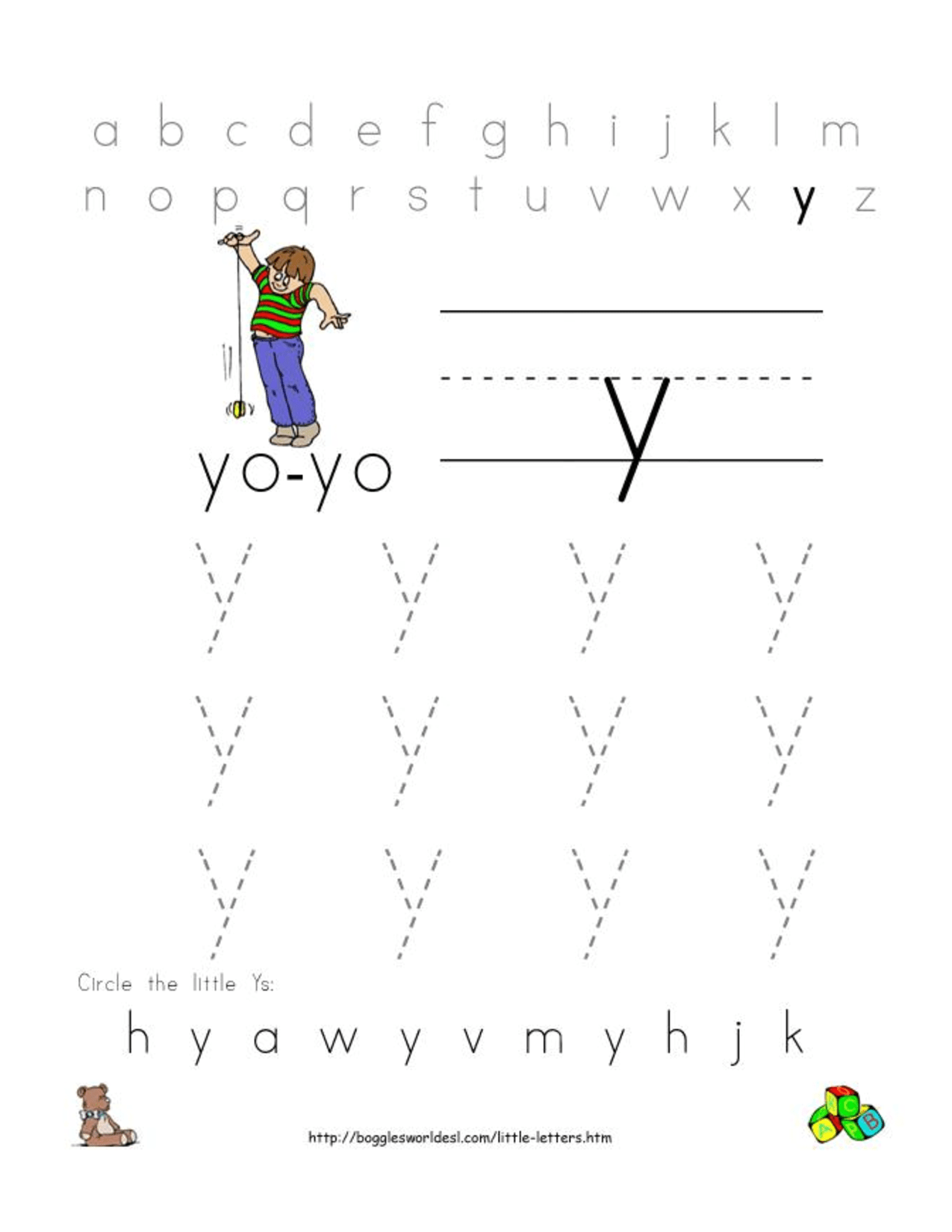 6 Best Images Of Printable Preschool Worksheets Letter Y
