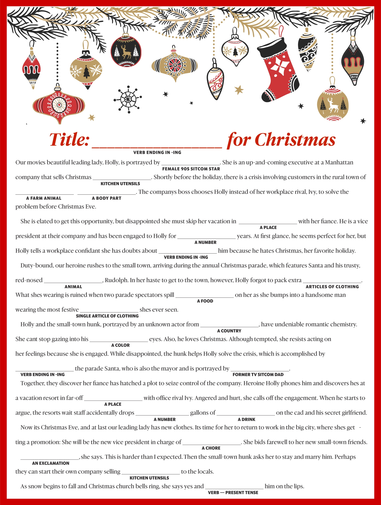 9 Best Love Letter Mad Libs Printable