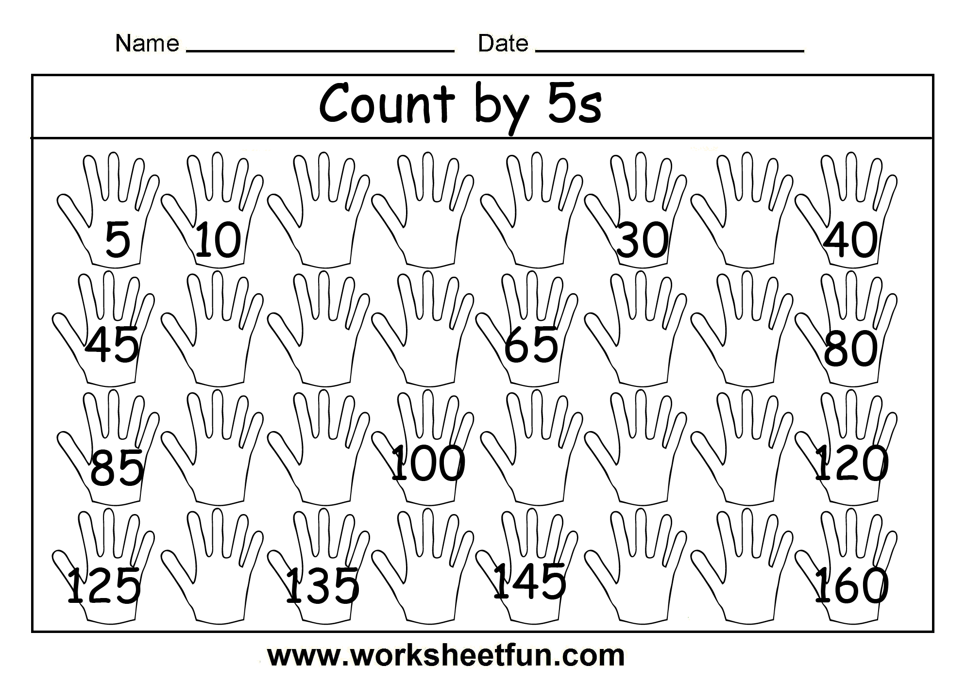 Count By 2 Worksheet