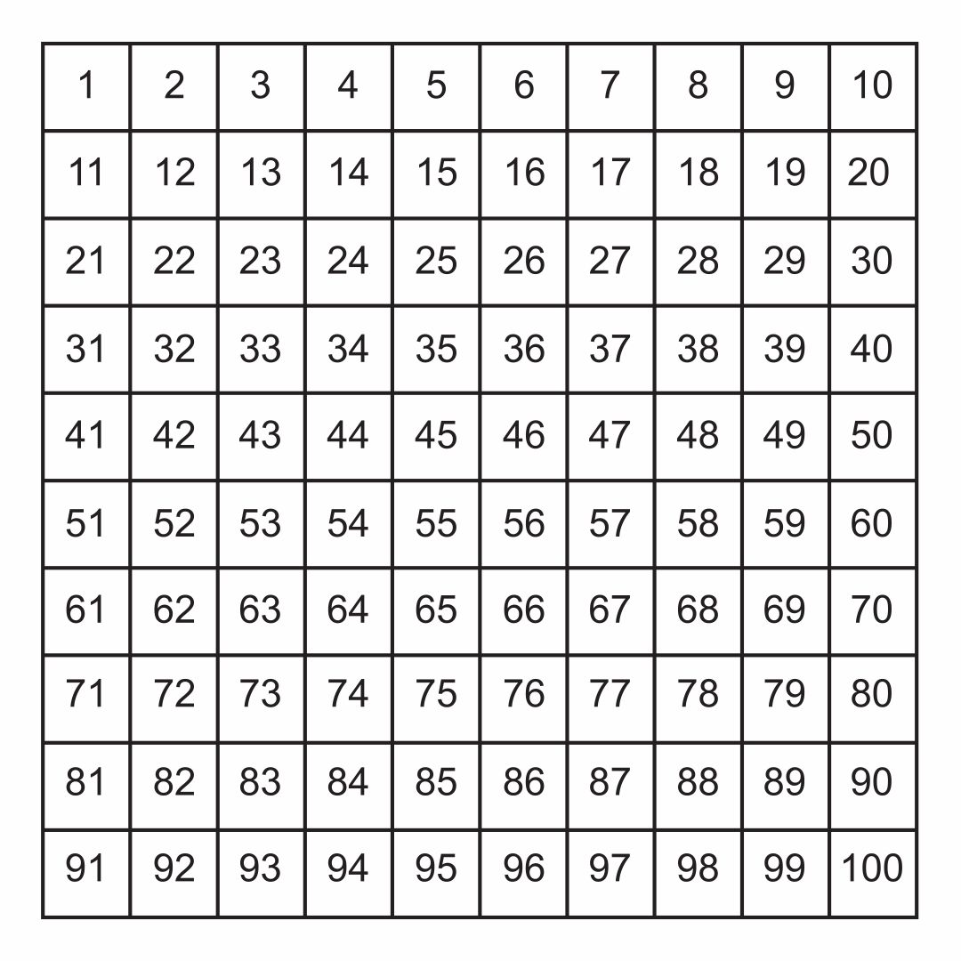 7 Best Images Of Printable Number Grid