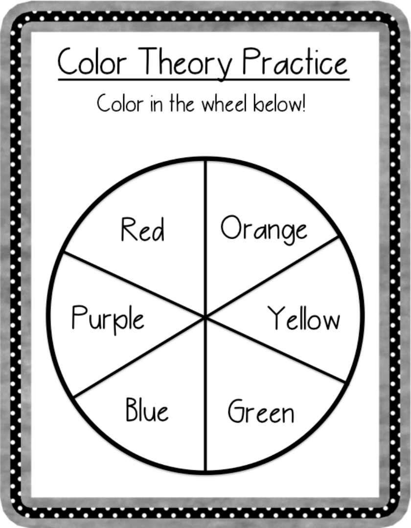 6 Best Images of Color Wheel Printable For Students