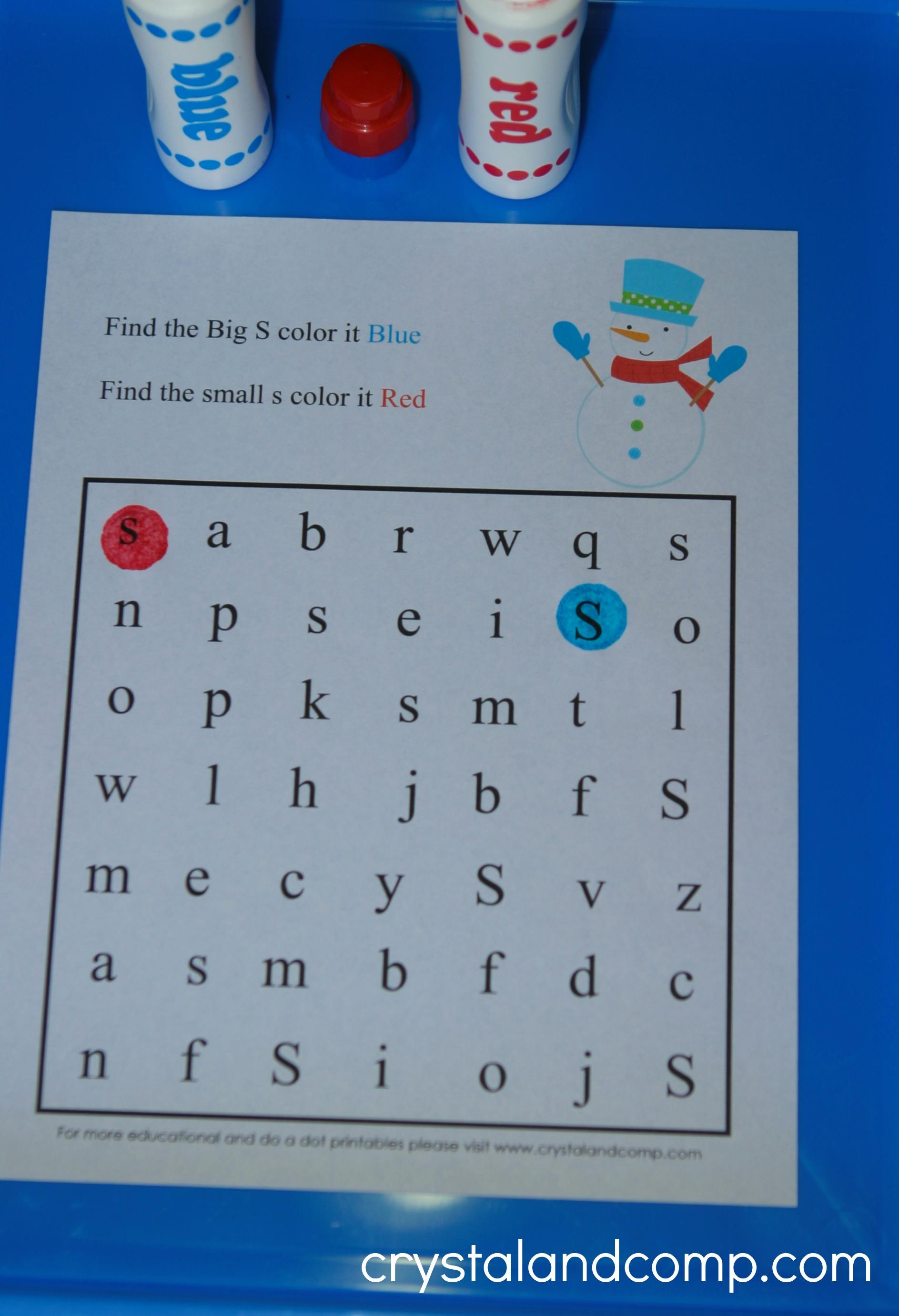 7 Best Images Of Dot Marker Preschool Printables Snowman