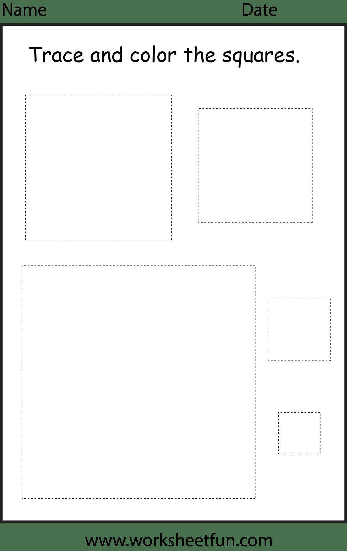 5 Best Images Of Printable Square Shapes Worksheets