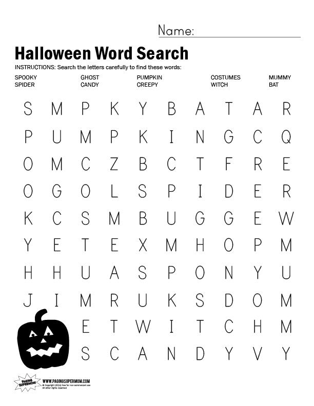 Fall Word Search 5th Grade