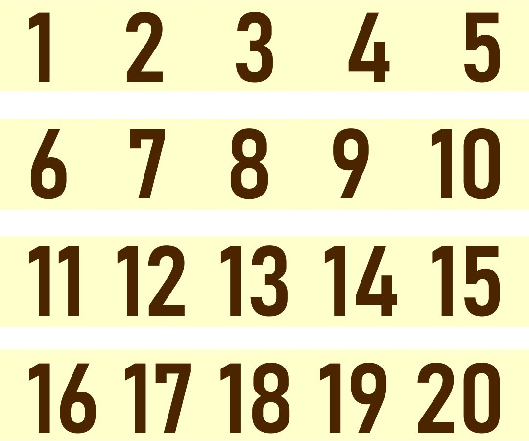 5 Best Images Of Printable Numbers 1 10 For Preschoolers