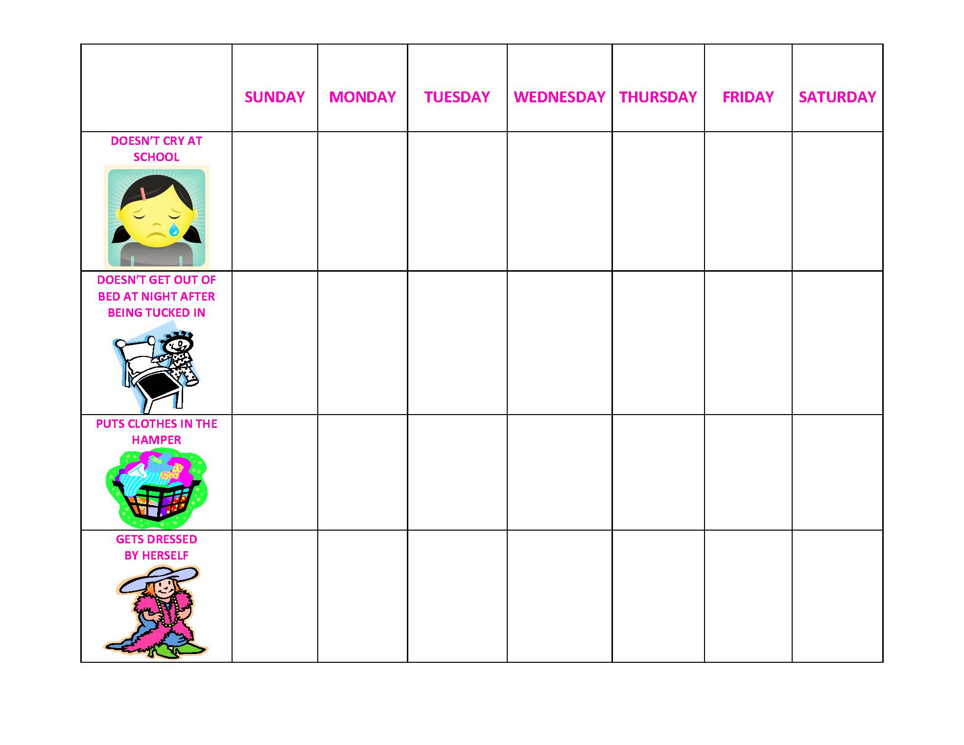 5 Best Images Of Printable Sticker Behavior Chart