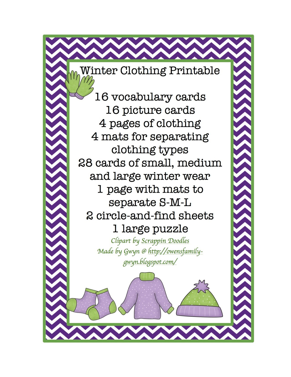 5 Best Images Of Clothing Home Printables