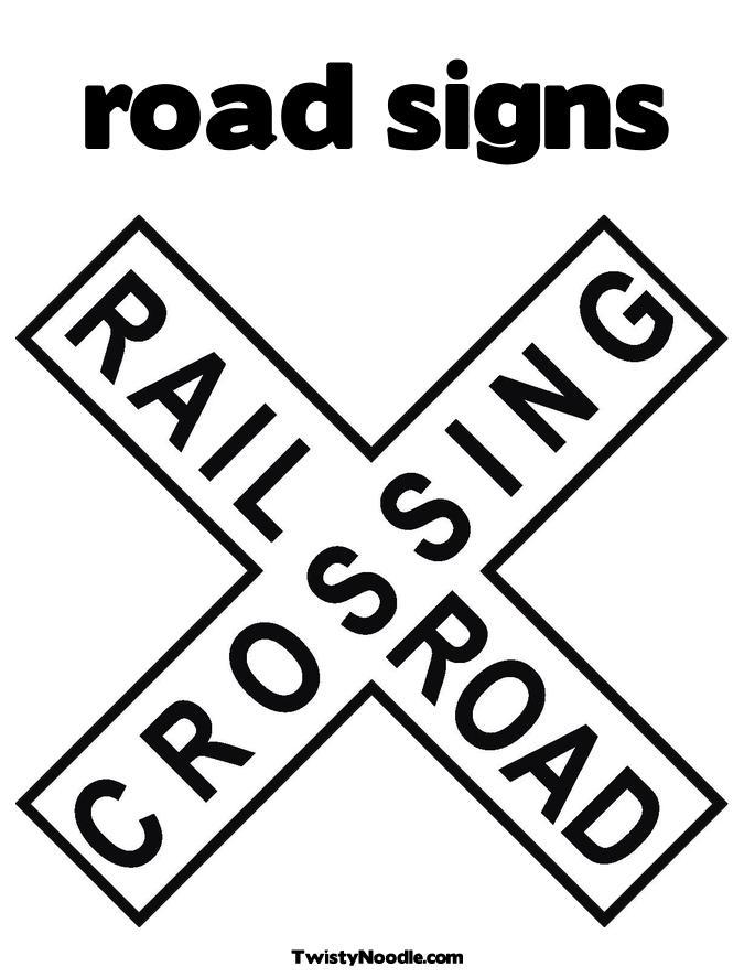 6 Best Images of Road Signs Printable Coloring Pages