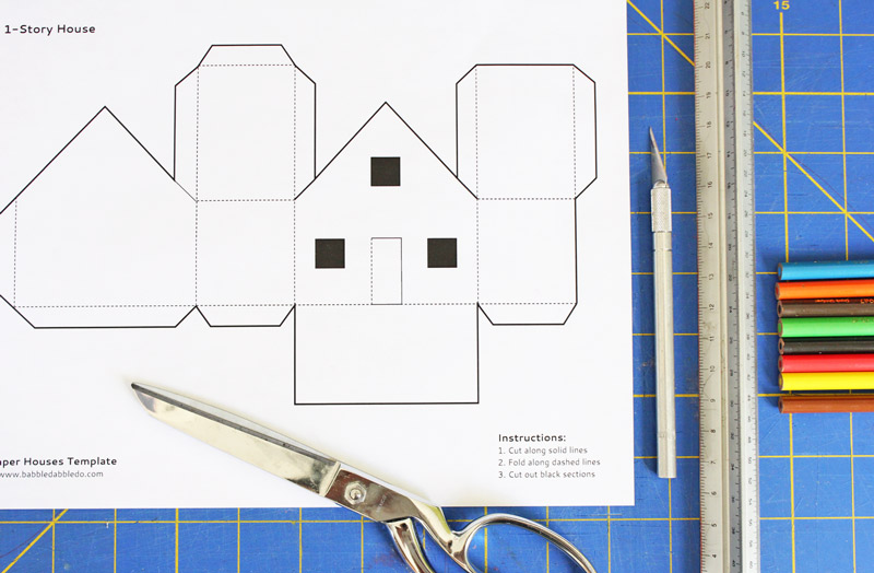folding origami box diagram f150 wiring 2016 7 best images of design 3d house printable template - templates printable, paper ...