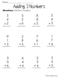7 Best Images of Adding 3 Numbers Worksheets Printable ...