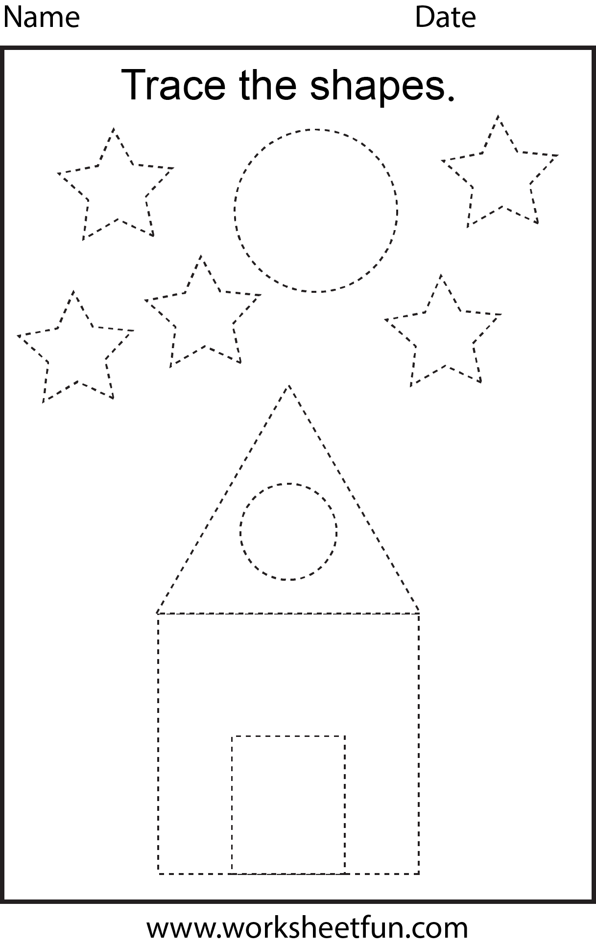 7 Best Images Of Opposites Worksheet Trace Preschoolers