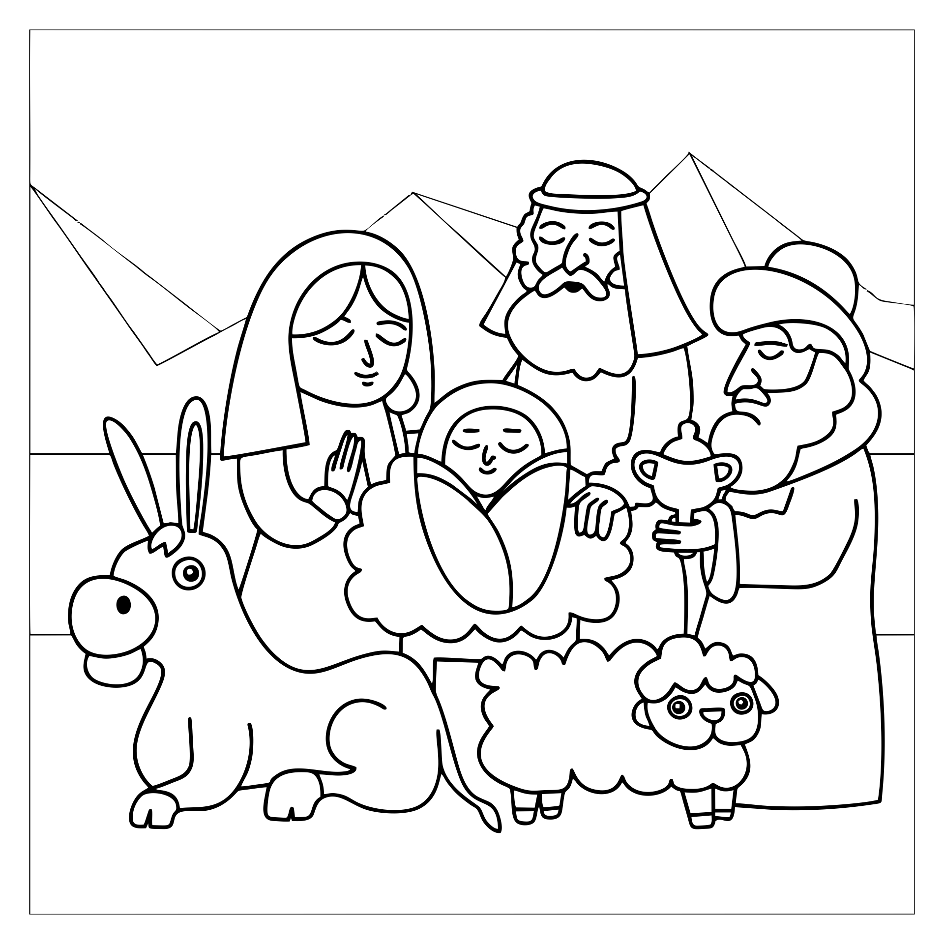 Search Results Printable Nativity Characters
