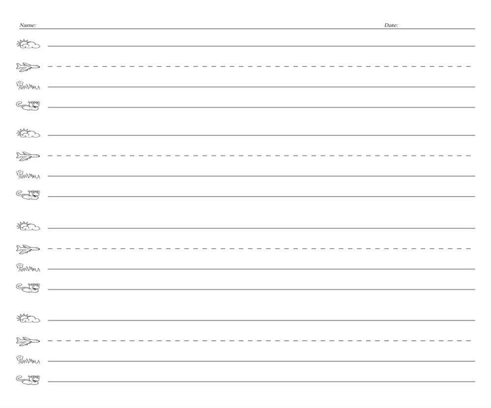 medium resolution of 5 Best Fundations Lined Paper Printable - printablee.com
