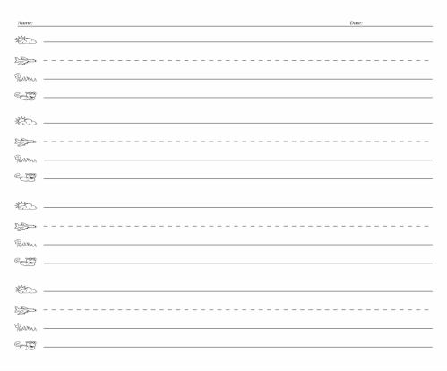 small resolution of 5 Best Fundations Lined Paper Printable - printablee.com