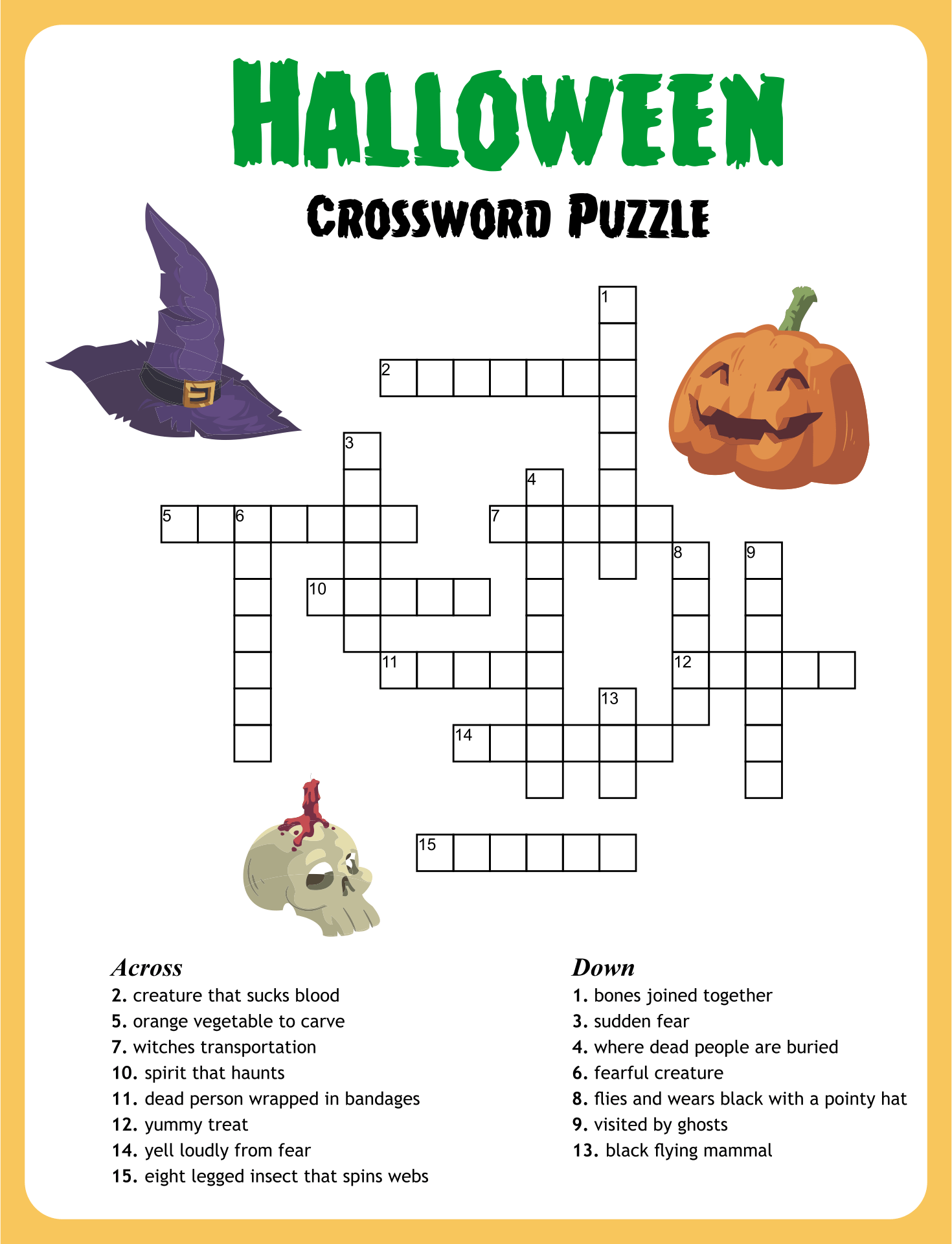 5 Best Images Of Halloween Puzzles Printable