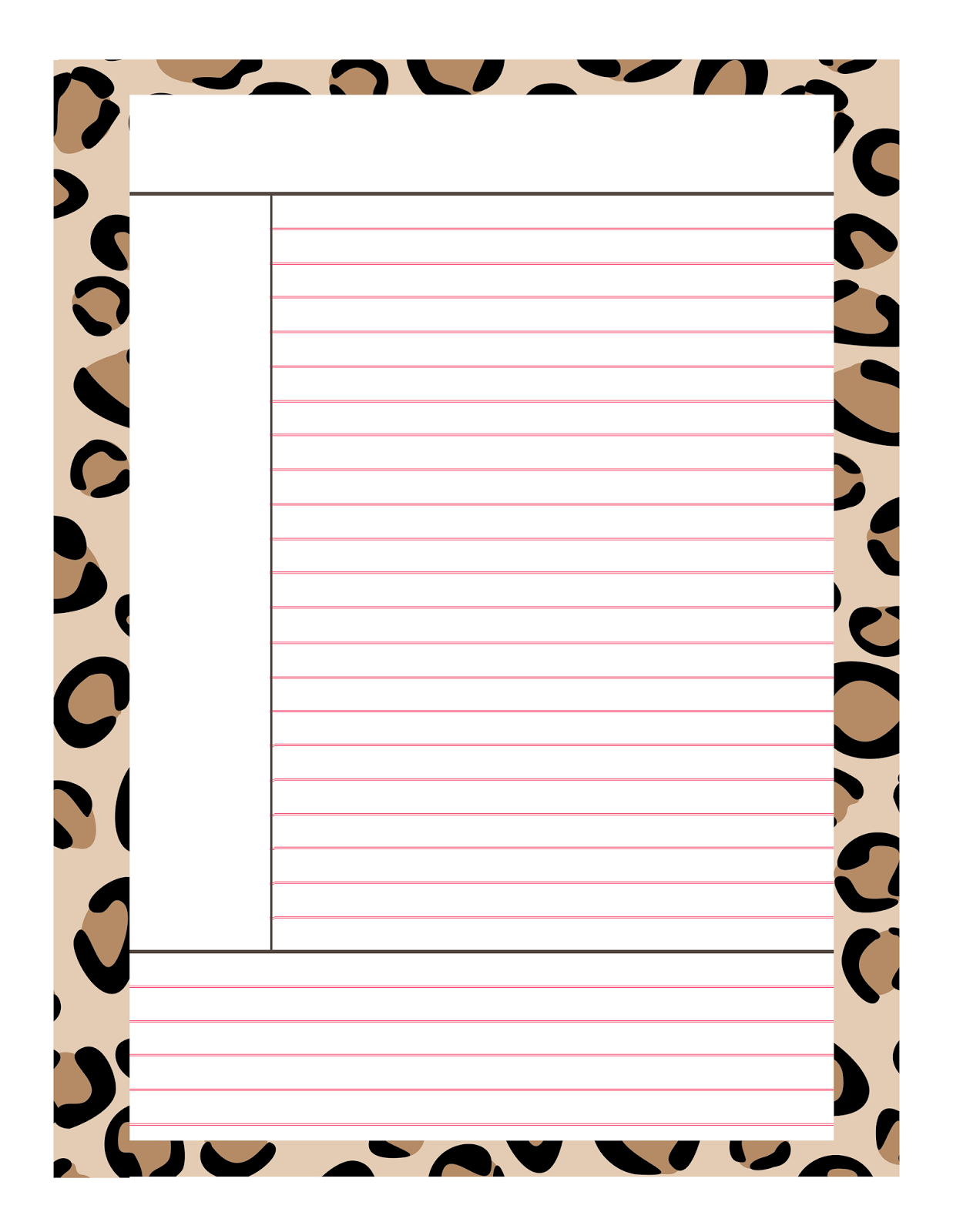 7 Best Images Of Cute Printable Note Taking Sheets
