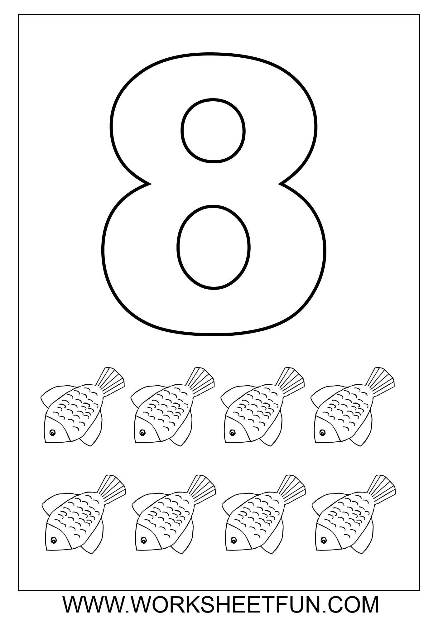 6 Best Images Of Printable Coloring Numbers 8