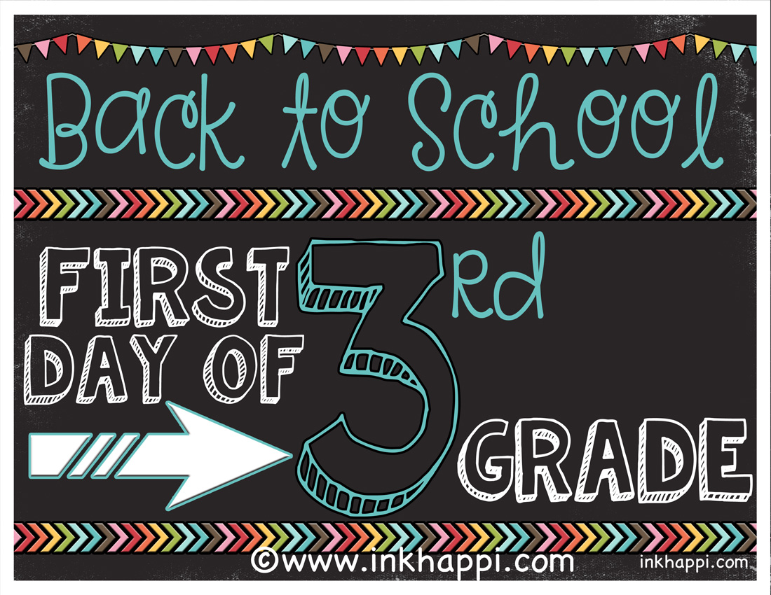7 Best Images Of 1st Day Of School Free Printable