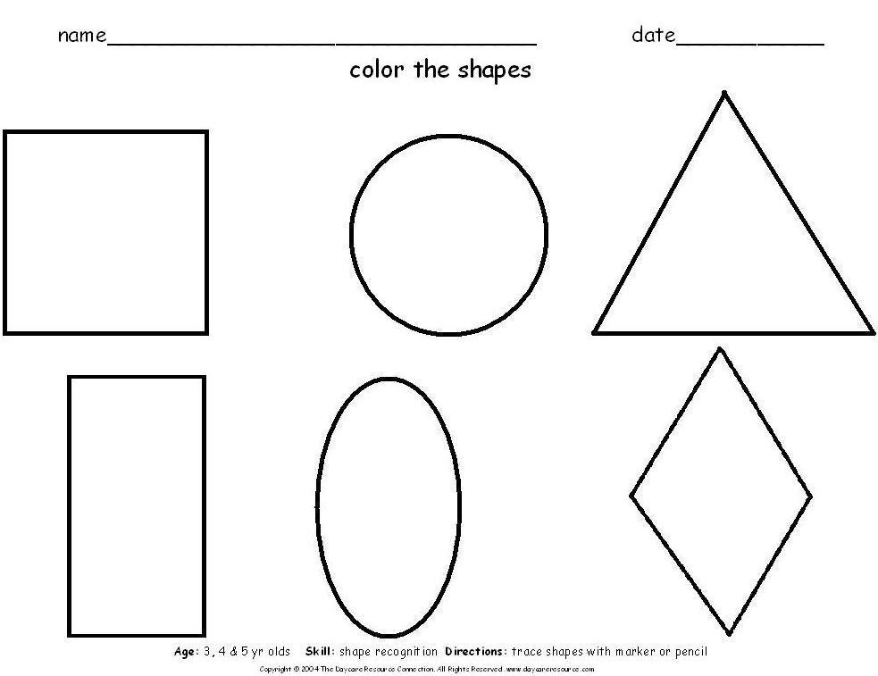 6 Best Images of Printable Preschool Shape Words