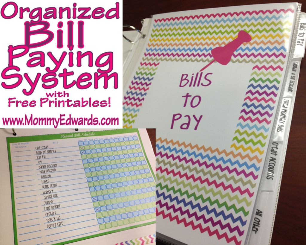 7 Best Images Of Bill Paying Binder Printables