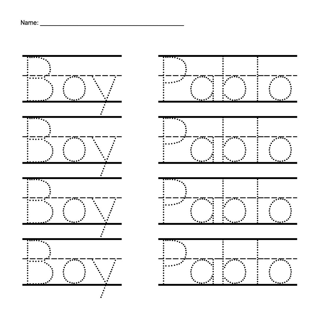 6 Best Images Of Preschool Name Tracing Printable