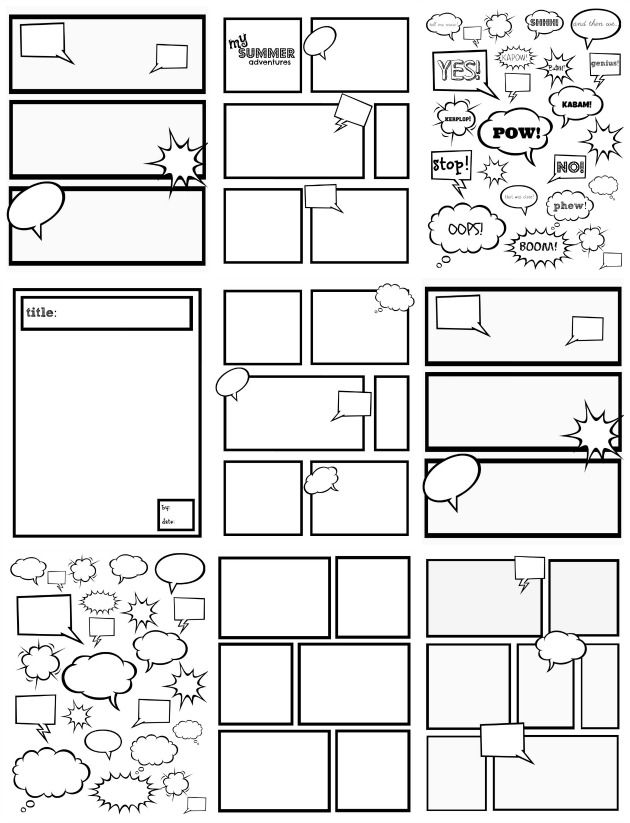 8 Best Images of Free Printable Comic Strip Template