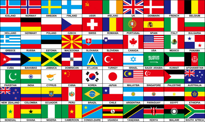 flags of countries printable