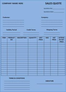 Sales Quotation Form