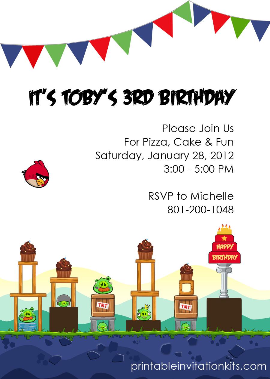 Angry Birds Birthday Party Invitation ← Wedding Invitation