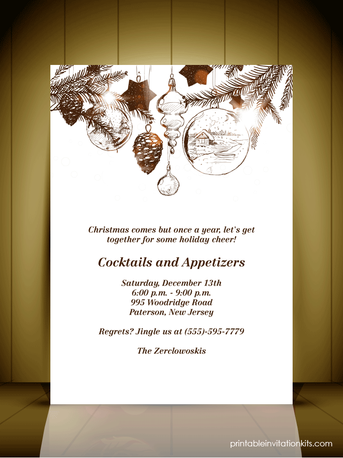 fancy christmas party invitation template Cogimbous