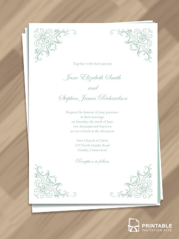 Simple Classy Border Wedding Invitation  Wedding