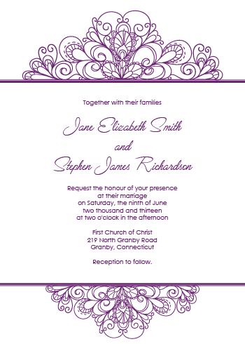 Ornamental Header Invitation
