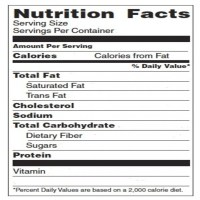 Blank Nutrition Label Template Word | printable label ...