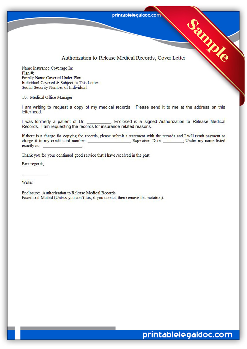 authorization to release medical records letter