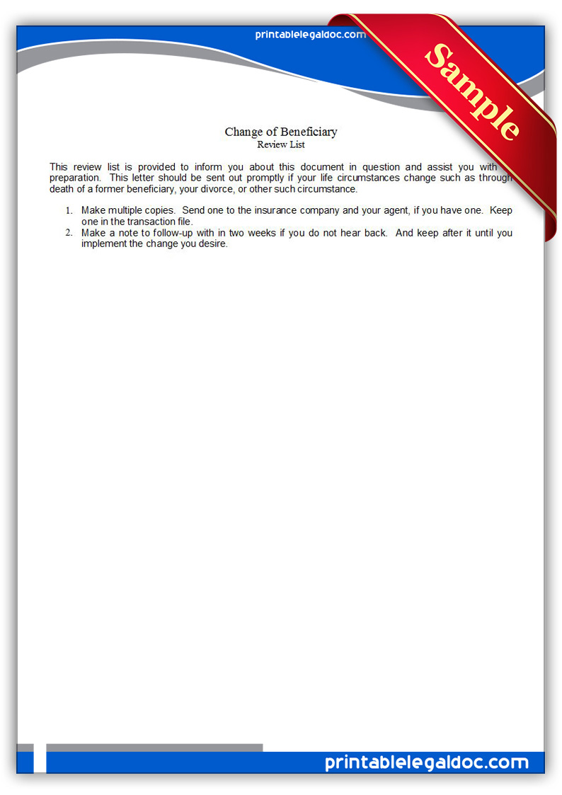 Sample Letter To Life Insurance Beneficiary   Cover Letter Sample