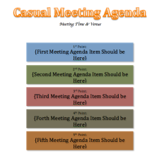 Casual Meeting Agenda Template