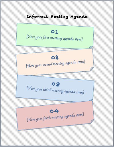 Informal Meeting Agenda Template