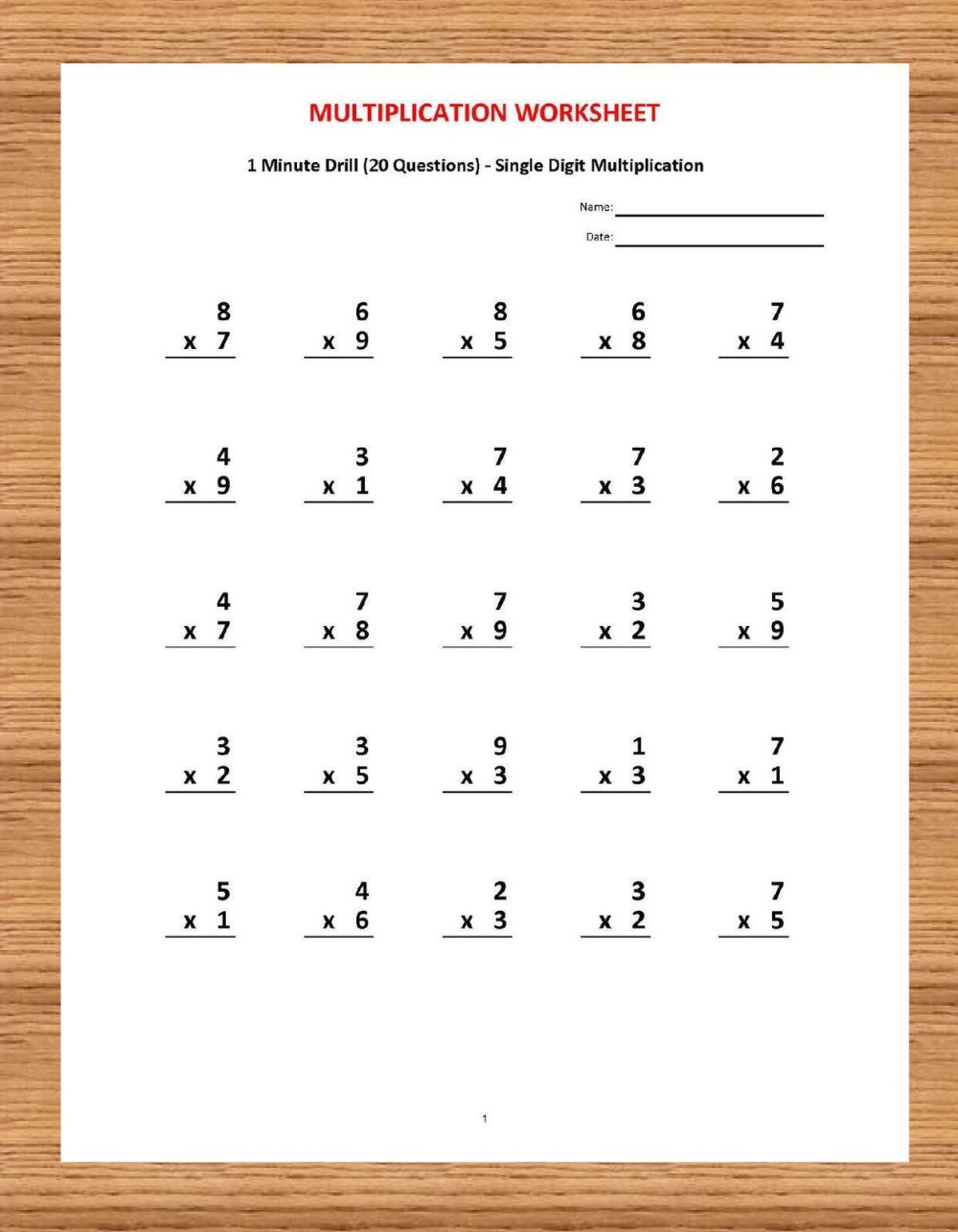 medium resolution of Multiplication Worksheets Sample   Printable Worksheets and Activities for  Teachers