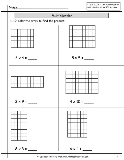 small resolution of Area Worksheet Multiplication Method   Printable Worksheets and Activities  for Teachers