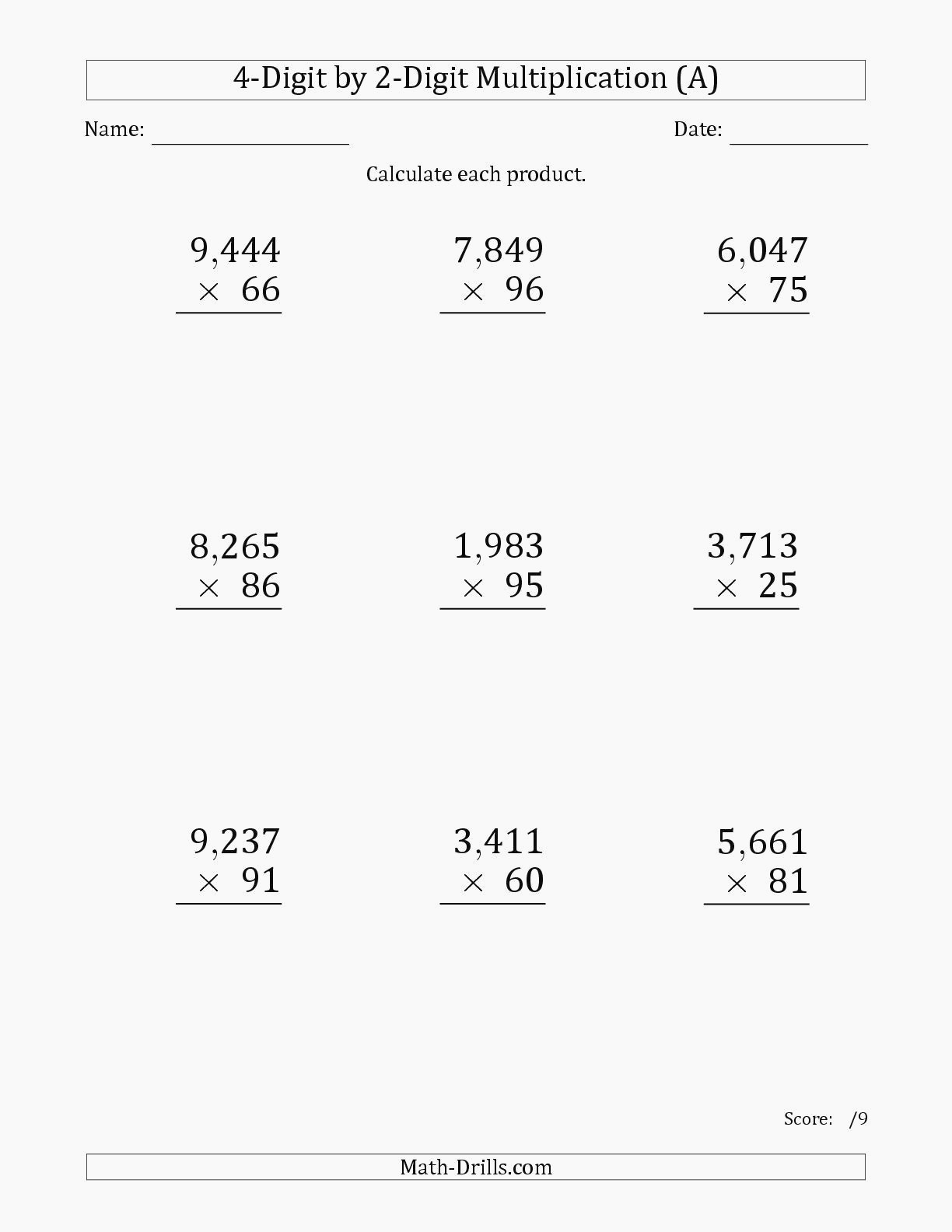 hight resolution of Five Digit Multiplication Worksheets   Printable Worksheets and Activities  for Teachers