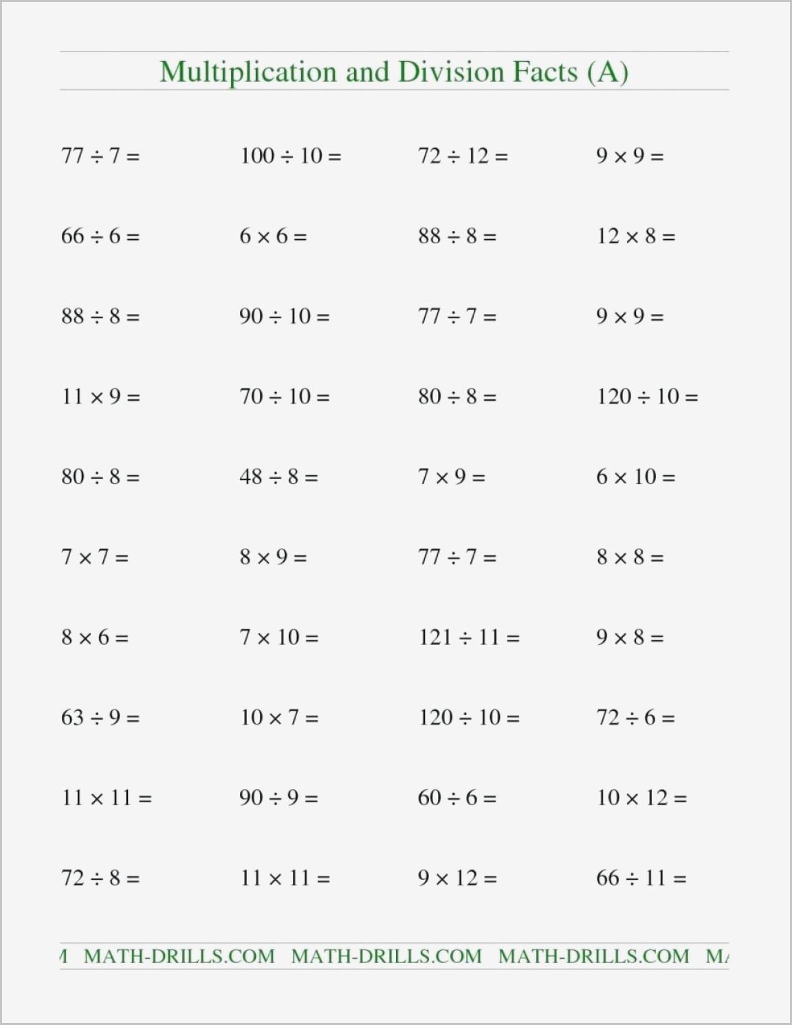 Multiplication Worksheets 7s