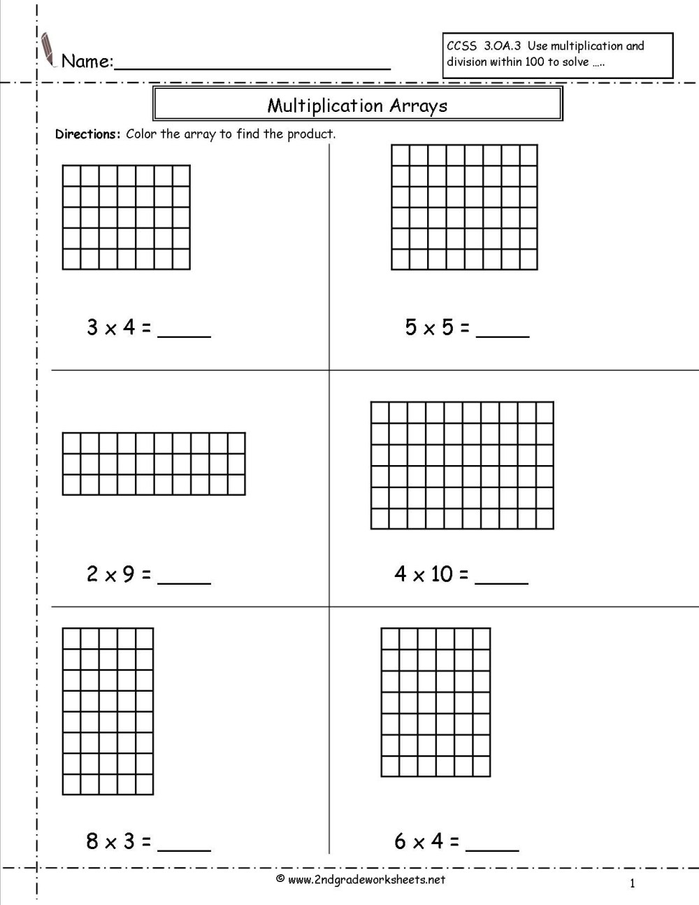 medium resolution of Blank Area Model Worksheet   Printable Worksheets and Activities for  Teachers