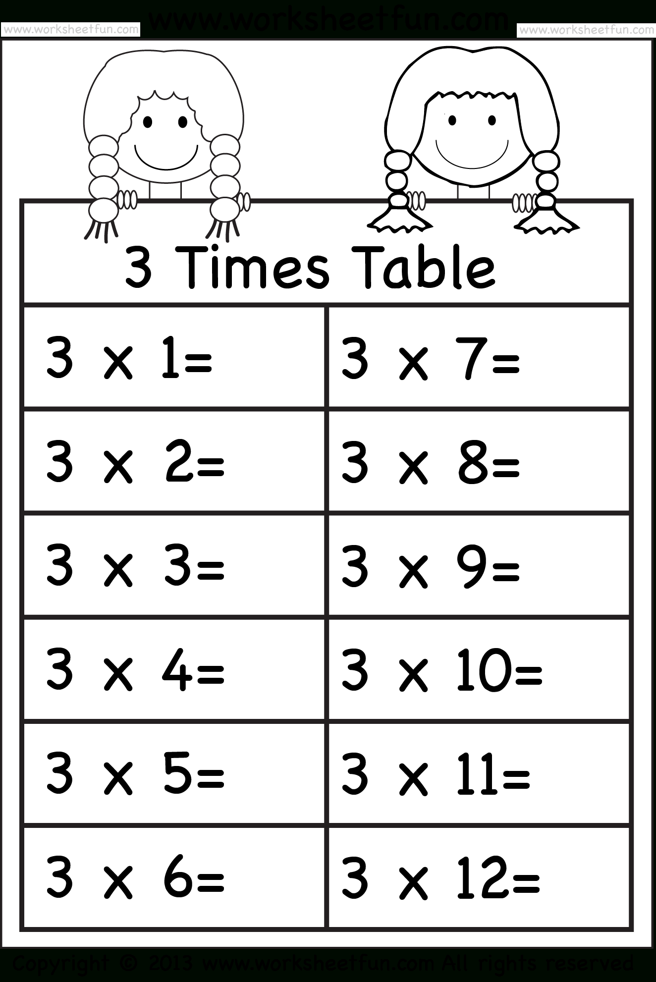 Multiplication Worksheets 5 6 7