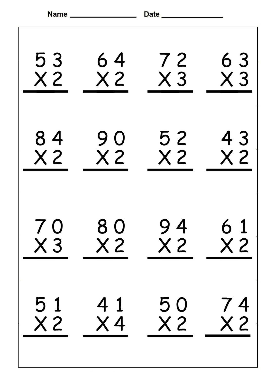 Printable 4 S Multiplication Worksheets