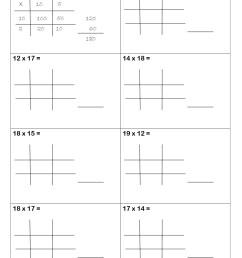 Lattice Method Worksheet   Printable Worksheets and Activities for  Teachers [ 1754 x 1240 Pixel ]
