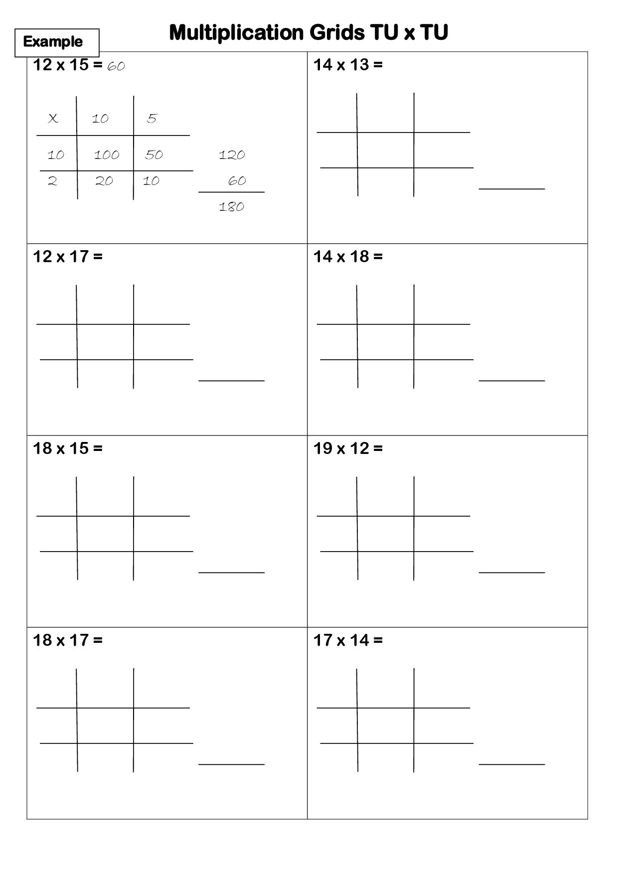hight resolution of Lattice Method Worksheet   Printable Worksheets and Activities for  Teachers