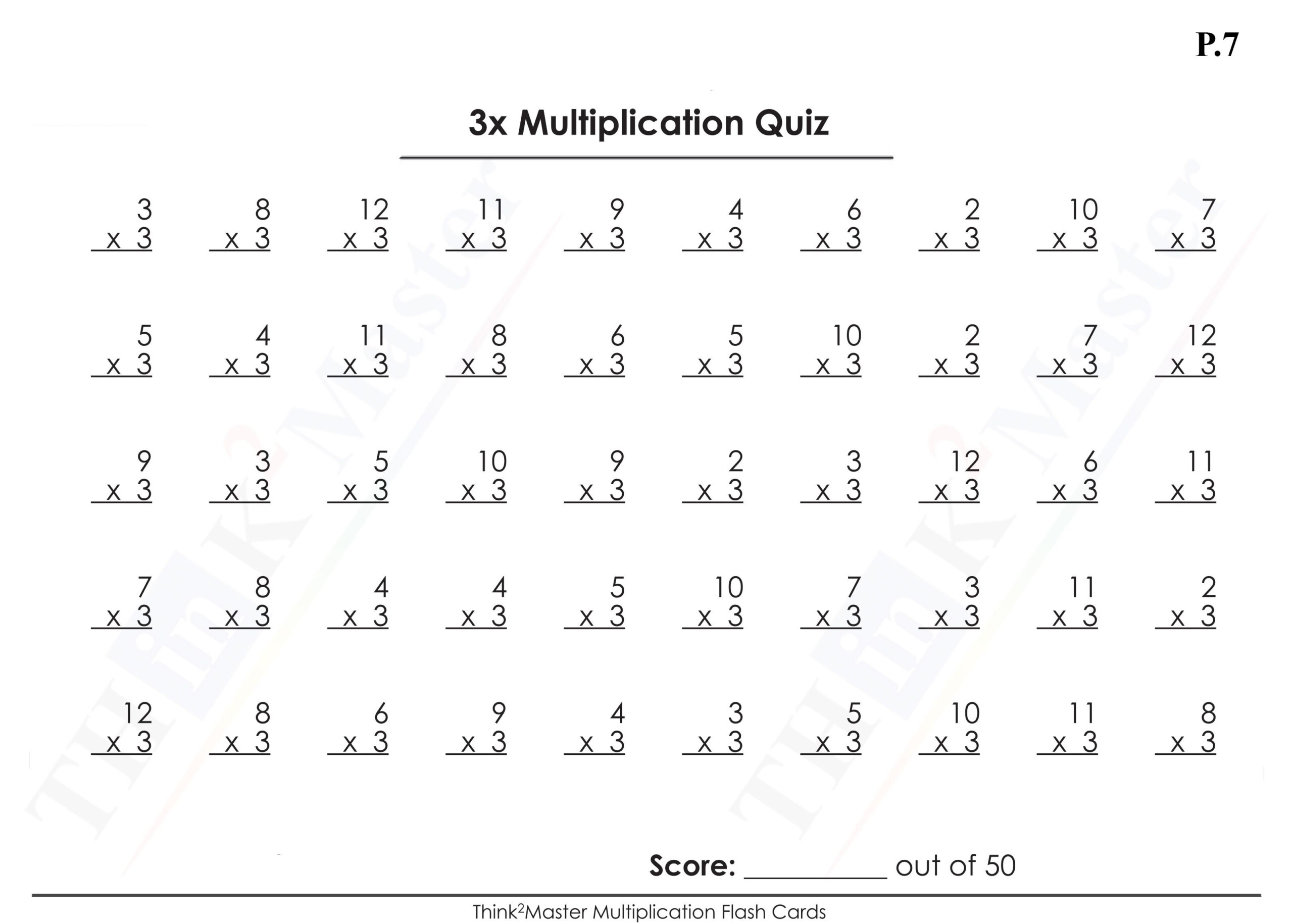 Multiplication Flash Cards 1 15