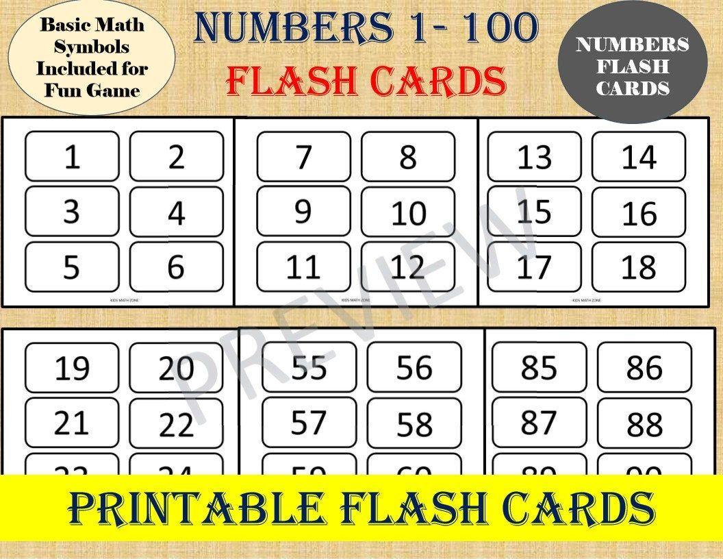 Basic Multiplication Flash Cards