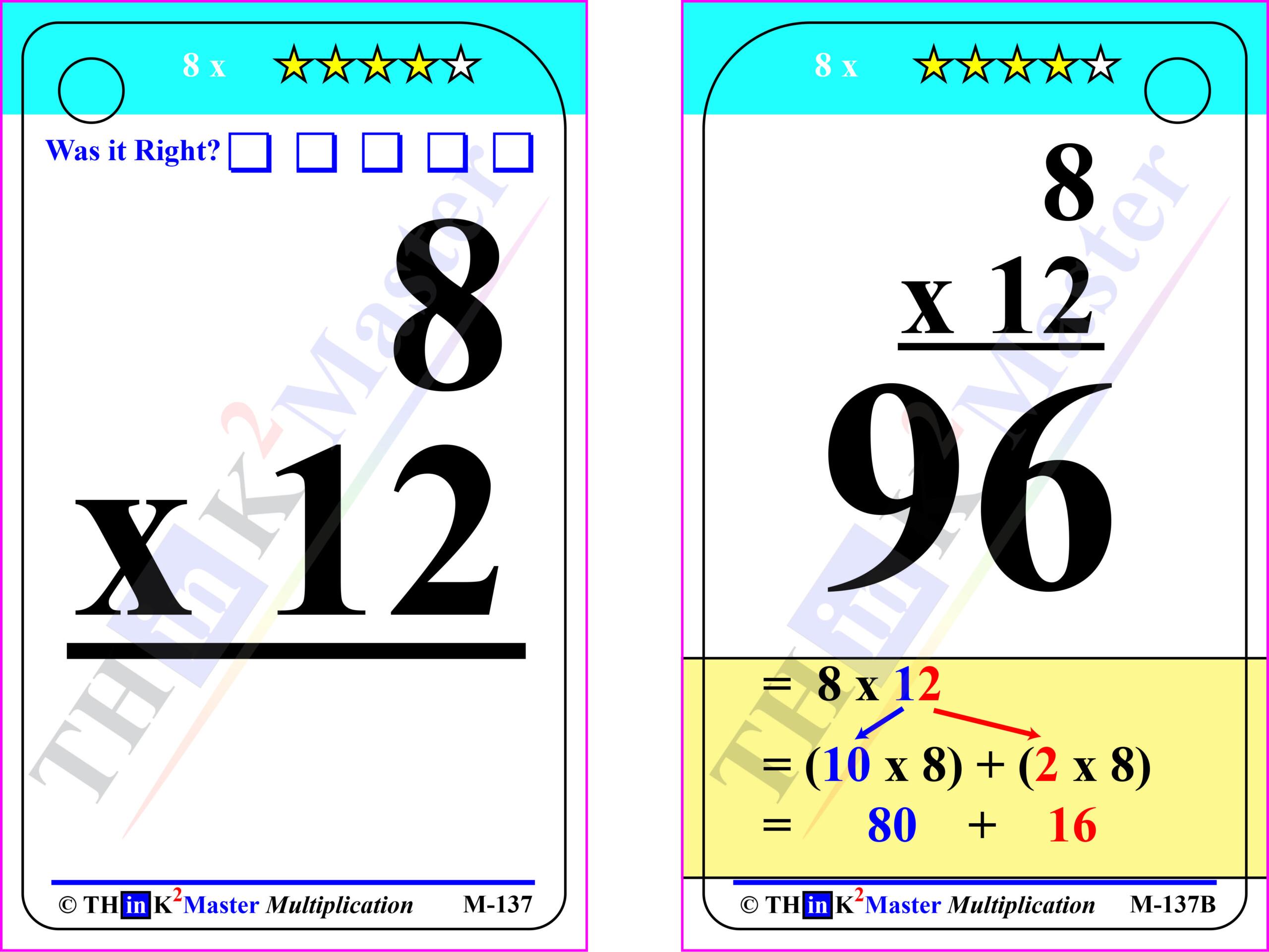 Multiplication Flash Cards 2 X